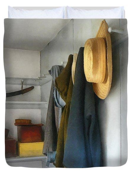 Teacher - Cloakroom Duvet Cover by Susan Savad