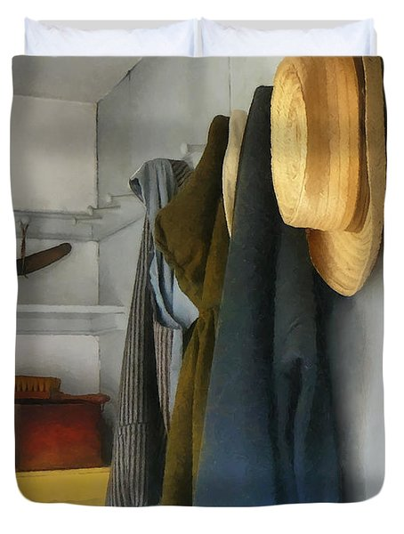 Teacher - Cloakroom Duvet Cover by Susan Savad