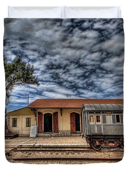 Tel Aviv Old Railway Station Duvet Cover by Ron Shoshani