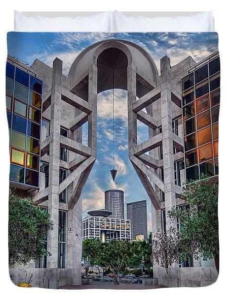 Tel Aviv Performing Arts Center Duvet Cover by Ronsho