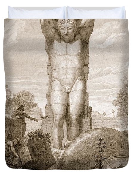 Temple At Agrigentum, Sicily Duvet Cover by Charles Robert Cockerell