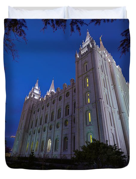 Temple Perspective Duvet Cover by Chad Dutson