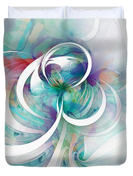 Tendrils 03 Duvet Cover by Amanda Moore