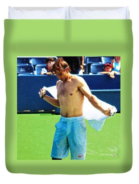 Tennis Champion Rafa Nadal  Duvet Cover by Nishanth Gopinathan
