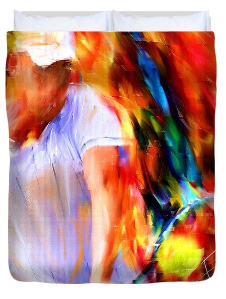 Tennis II Duvet Cover by Lourry Legarde