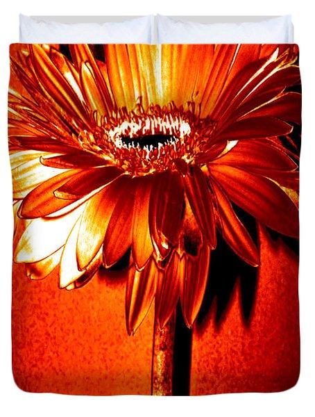 Tequila Sunrise Zinnia Duvet Cover by Sherry Allen