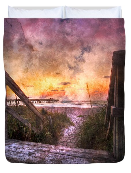 Tequilla Sunrise Duvet Cover by Debra and Dave Vanderlaan