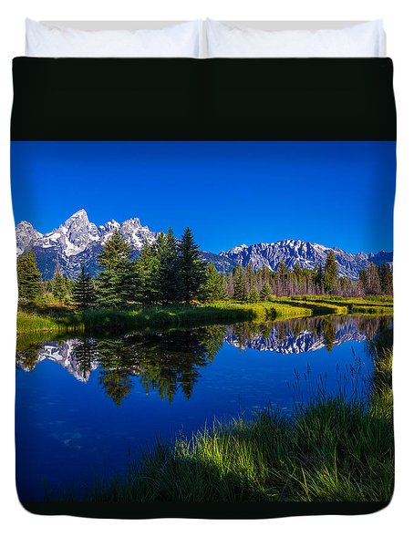Teton Reflection Duvet Cover by Chad Dutson