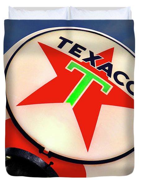 Texaco Star Globe Duvet Cover by Mike McGlothlen