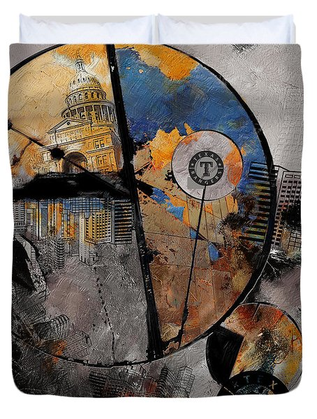 Texas - B Duvet Cover by Corporate Art Task Force