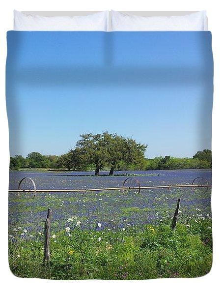 Texas Blue Bonnets Duvet Cover by Shawn Marlow
