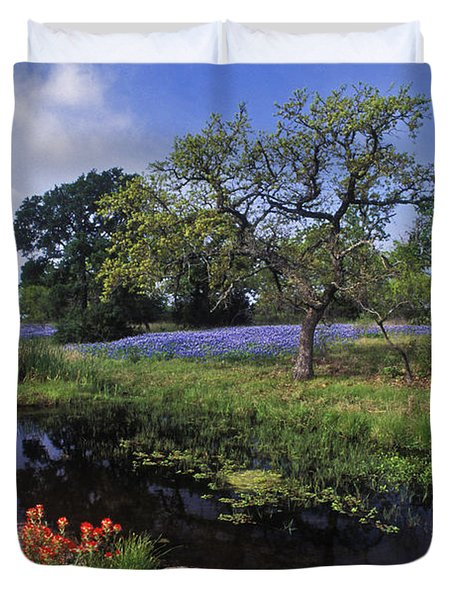 Texas Hill Country - FS000056 Duvet Cover by Daniel Dempster