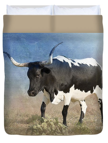 Texas Longhorn #7 Duvet Cover by Betty LaRue