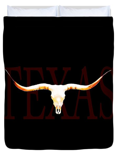 Texas Longhorns By Sharon Cummings Duvet Cover by Sharon Cummings