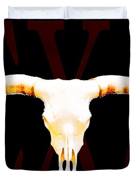 Texas Longhorns By Sharon Cummings Duvet Cover by Sharon Cummings