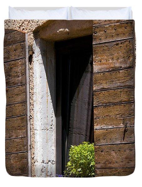 Textured Shutters Duvet Cover by Bob Phillips