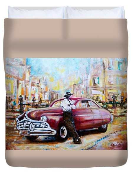 The 1950 Duvet Cover by Emery Franklin