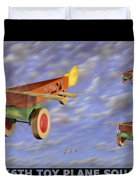 The 356th Toy Plane Squadron Duvet Cover by Mike McGlothlen