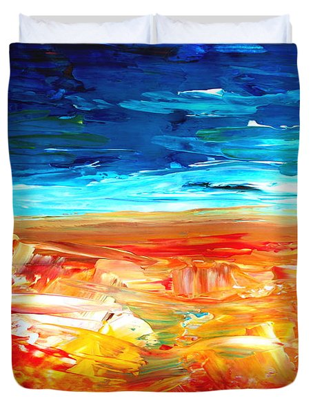 The Abstract Rainbow Beach Series II Duvet Cover by M Bleichner