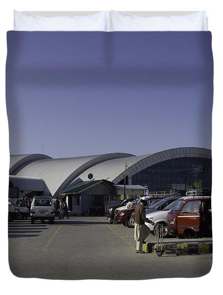 The Airport In Srinagar The Capital Of Jammu And Kashmir Duvet Cover by Ashish Agarwal