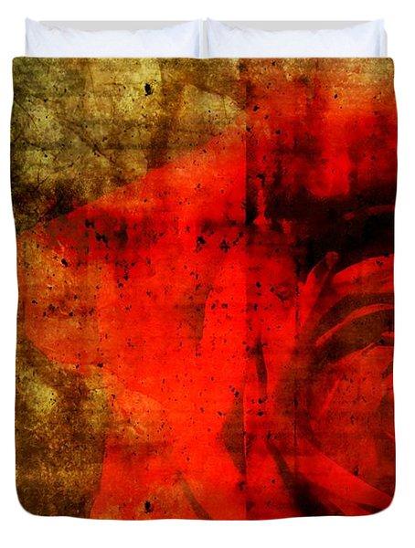 The Allure Of A Rose Duvet Cover by Brett Pfister