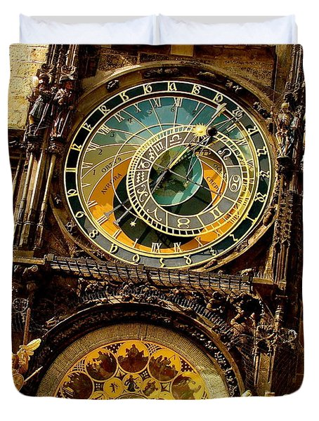The Ancient Of Clocks Duvet Cover by Ira Shander