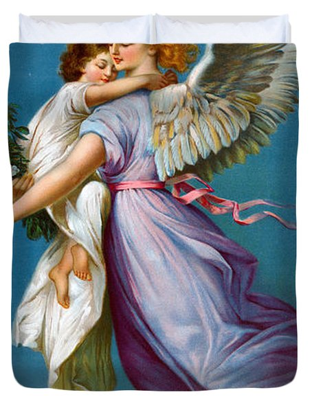 The Angel Of Peace Duvet Cover by B T Babbitt