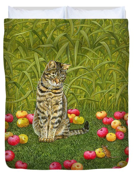The Apple Mouse Duvet Cover by Ditz
