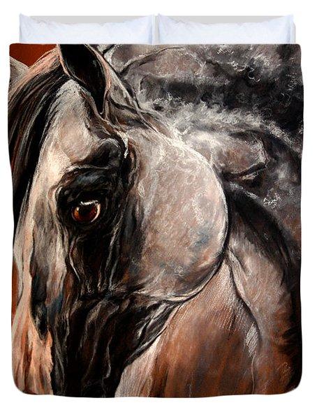 The Arabian Horse Duvet Cover by Angel  Tarantella
