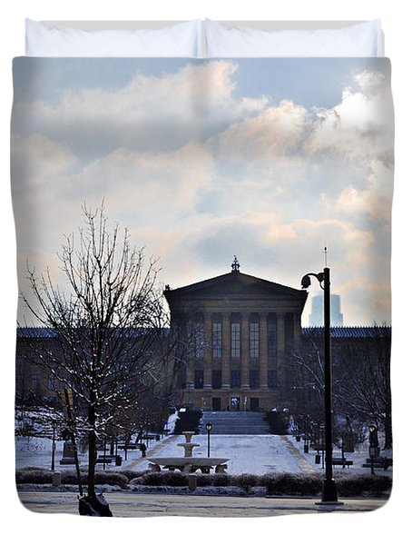 The Art Museum in the Snow Duvet Cover by Bill Cannon