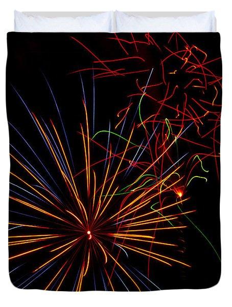 The Art Of Fireworks  Duvet Cover by Saija  Lehtonen