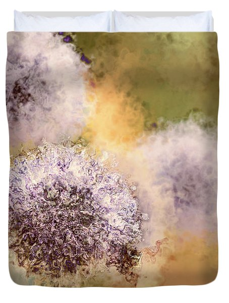 The Art Of Pollination Duvet Cover by Peggy Collins