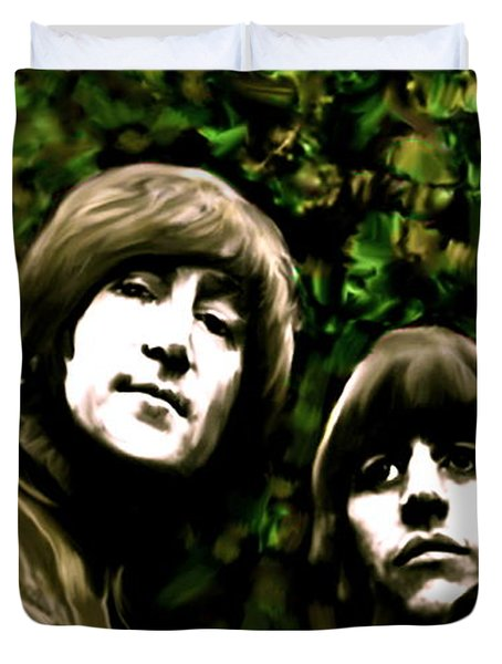 The Art Of Sound  The Beatles Duvet Cover by Iconic Images Art Gallery David Pucciarelli