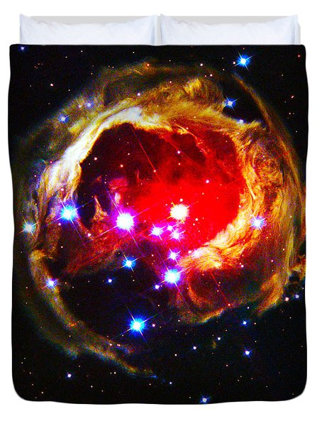 The Art Of The Universe 323 Duvet Cover by The Hubble Telescope