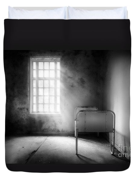 The Asylum Project - Empty Bed Duvet Cover by Erik Brede