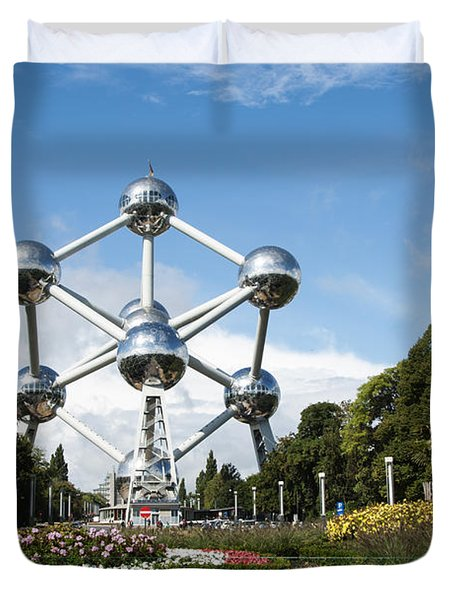 The Atomium Duvet Cover by Juli Scalzi