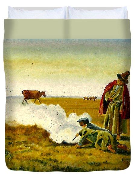 The Autumn Duvet Cover by Henryk Gorecki