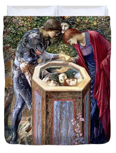 The Baleful Head, C.1876 Duvet Cover by Sir Edward Coley Burne-Jones