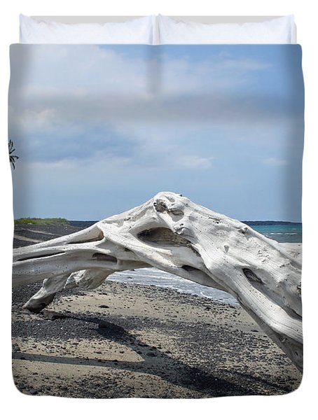 The Bali House View Duvet Cover by Bob Hislop