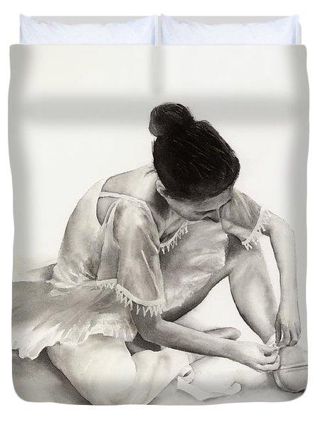 The Ballet Dancer Duvet Cover by Hailey E Herrera