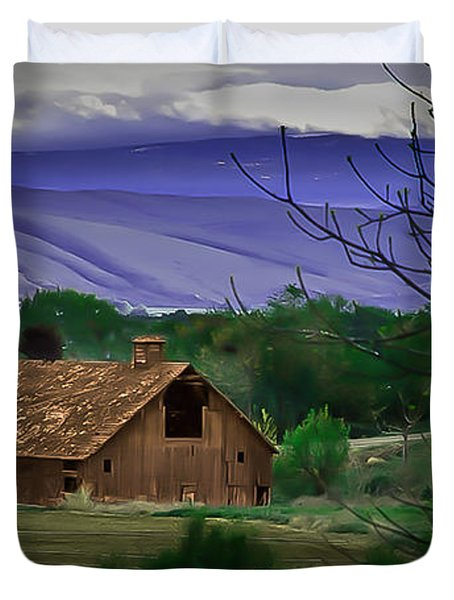 The Barn Duvet Cover by Robert Bales