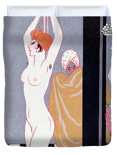 The Basin Duvet Cover by Georges Barbier