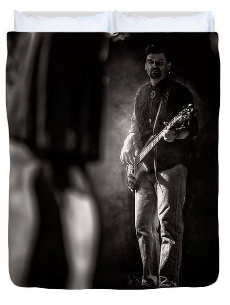 The Bassist Duvet Cover by Bob Orsillo
