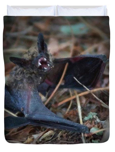 The Bat Painterly Duvet Cover by Ernie Echols