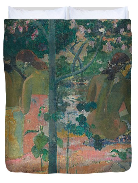 The Bathers Duvet Cover by Paul Gaugin