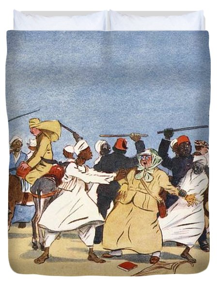 The Battle Of The Nile, From The Light Duvet Cover by Lance Thackeray