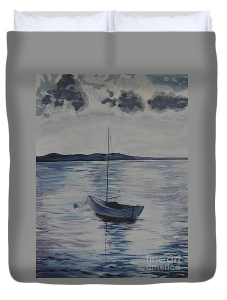 The Bay Duvet Cover by Sally Rice