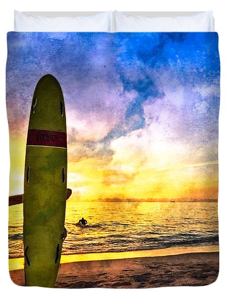 The Beach Boys Duvet Cover by Debra and Dave Vanderlaan