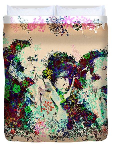The Beatles 10 Duvet Cover by Bekim Art