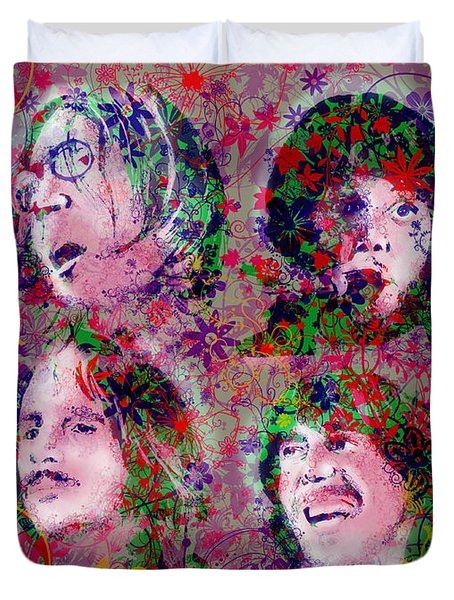 The Beatles 8 Duvet Cover by Bekim Art